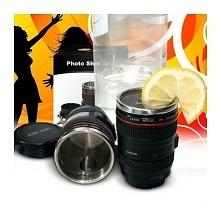 Photo Shot - kieliszek obiektyw-  Kieliszek będący miniaturą obiektywu fotograficznego. Kliknij w zdjęcie, by przejść do sklepu! SmartGift.pl