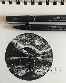 Moje małe dzieło wykonane w całości malutkimi, czarnymi kropeczkami. To jest ...