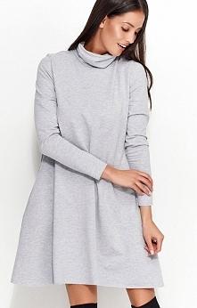 Numinou NU52 sukienka szara Komfortowa sukienka, luźny fason, wykonana z wysokiej jakości materiału dresowego