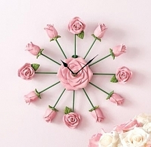 Różyczkowy zegar