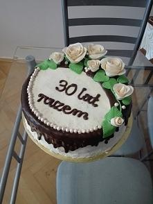 Tort na rocznicę ślubu Wszy...