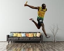 Usain Bolt - prawdziwa legenda lekkiej atletyki - tym razem na naklejkach, kt...