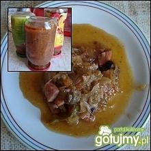 Hilfuś   kapusta kiszona ¾ kg sosy pozostałe z pieczeni i nie tylko (np. udźc...