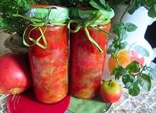 Warzywa duszone z jabłkiem (do słoików) Gotowa surówka do obiadu na zimę.    ...