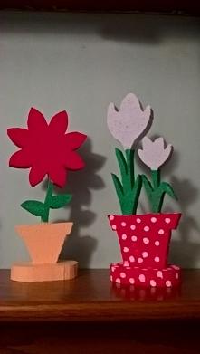 Styropianowe kwiaty