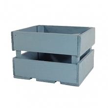 Drewniana skrzynka, kolor morski (BOX22/18/15)