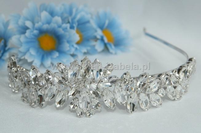 Diadem z kryształami, ślub