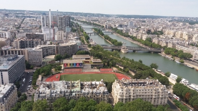 France, Paris, view from the Eiffel Tower