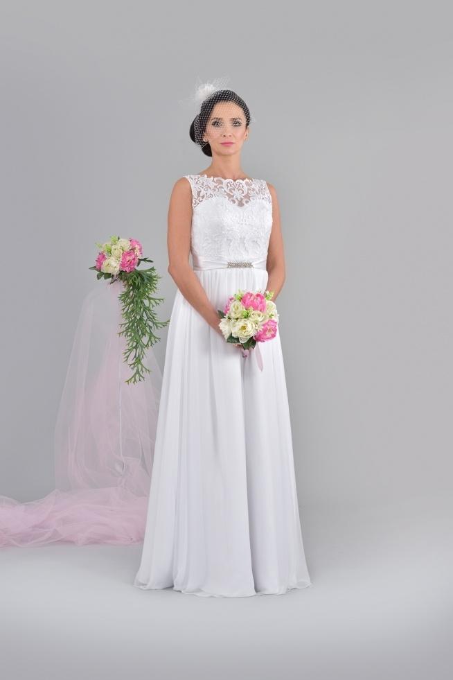 Klasyczna Suknia ślubna Zwiewna I Prosta A Zarazem Piękna I Na