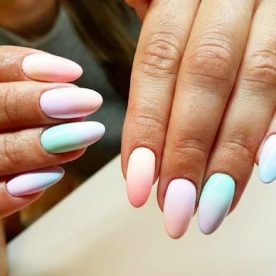Takie piękne kolory paznokcie na lato - więcej inspiracji na letni manicure po kliknięciu w zdjęcie KLIK KLIK