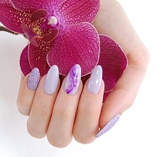 Neonail Thistle, Sand Effect nr 3 i Purple Aquarelle :) <3