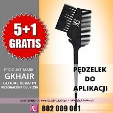 Global Keratin GK Hair pędzelek do aplikacji z grzebieniem application brush comb sklep warszawa PROMOCJA
