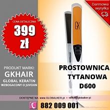 Global Keratin prostownica tytanowa D600 titanium flat iron cena 399zł sklep warszawa Darmowa wysyłka