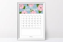Kalendarz na sierpień 2017- do pobrania na blogu