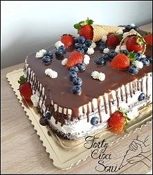 Owocowy tort :) Dripcake