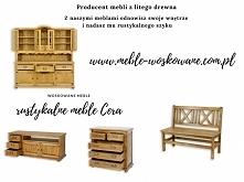 meble drewniane wykończone jasnym woskiem