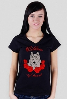 Koszulka damska 'Wildness of heart' dostępna na psino.cupsell. pl  ...