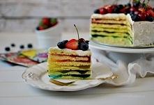 Tęczowy tort z galaretek  2...