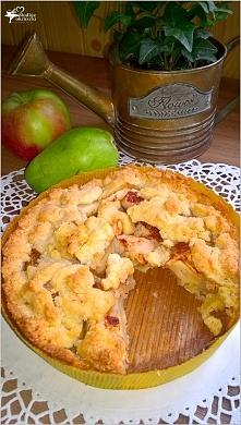 Gruszkowo-jabłkowe ciasto deserowe (kruche) *przepis po kliknięciu w zdjęcie