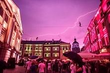 Lublin burzowym wieczorem