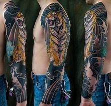 tygrys na tatuażu