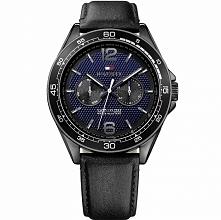 Tommy Hilfiger 1791368 męski zegarek sportowy na skórzanym pasku. Wykonany ze...