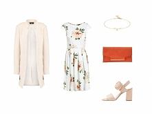 Biała sukienka w kwiaty to ...