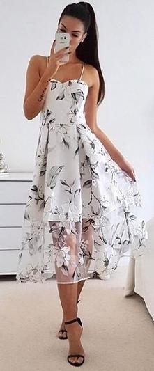 Idealna sukienka w kwiaty n...