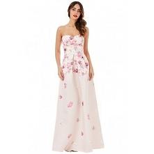 Długa gorsetowa sukienka w ...