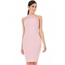 Pastelowa różowa sukienka o...