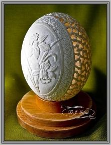 strusie jajo rzeźbione - Bogusława Justyna Goleń