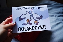 Kartka ślubna z gołąbkami