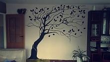 Drzewo malowałam czarną farbą akrylową ❤