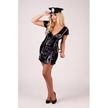 Dokonaj spektakularnego aresztowania, a Twój partner oszaleje z zachwytu. Koszulka Policjantka Plus Size M/1045