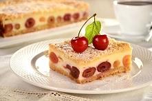 Sernik z czereśniami      mąka - 250 gramów     Kostka margaryny do pieczenia...