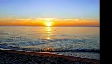 Zachód słońca w Dąbkach