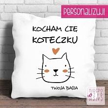 """Poduszkowiec """"Kocham Cię Koteczku"""" Dzień CHłopaka"""