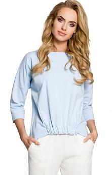 Moe M315 bluza błękitna Rewelacyjna bluza damska, doskonała na co dzień, rękawy typu nietoperz