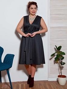 Przepiękna wieczorowa sukienka kostiumowa w rozmiarach od 46 do 52. Darmowa dostawa na thecovershop.pl