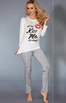 Livia Corsetti Model 109 piżama Zalotna dwuczęściowa piżamka, wykonana z miękkiej wiskozowej dzianiny, bluzka z długim rękawem
