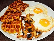 Dyniowe gofry na śniadanko tylko 222kcal na 3 sztuki :)