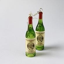 Butelki wina kolczyki
