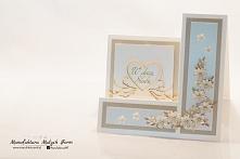 kartka ślubna - rękodzieło
