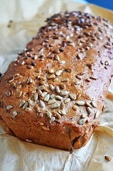 Domowy Fit chleb pełnoziarnisty prosty i szybki 100g=205kcal. Przepis: 500 g ...
