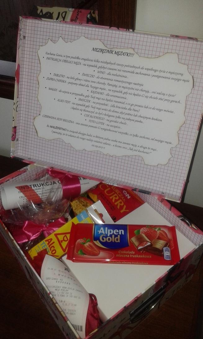 Niezbędnik mężatki... prezent na wieczór panieński dla przyszłej panny młodej :)
