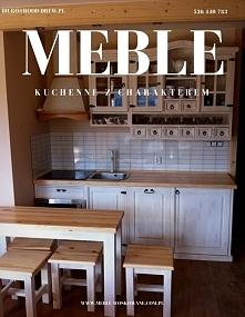 drewniane meble do kuchni w...