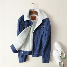 Śliczna ocieplana bluza jeansowa z misiem, idealna na jesienne dni. Kliknij w...