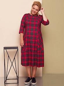 Wygodne sukienka plus size w modną kratę! Do kupienia na stronie thecovershop.pl