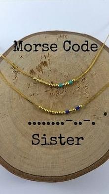 Bransoletki z kodem Morse&#...