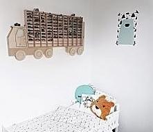 półka do pokoju na samochody dla chłopca